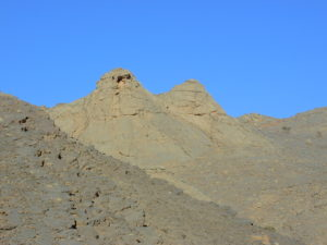 View on the Kess-Kess mud mounds at the Hamar Laghdad.
