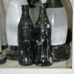 A Coke Bottle made of Stone.