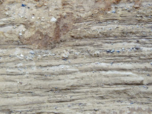 Glacial deposits of sand and gravel.