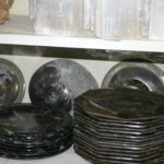 Some plates made of orthicon marble.