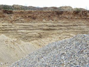 Glacial deposits in situ. The last ice ages have shaped this landscape.